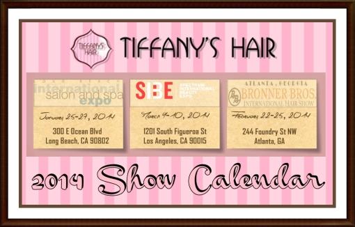 Hair Show Calendar